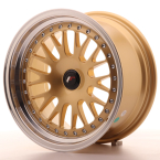 "Japan Racing JR10 BLANK Gold w/Machined Lip 16""(WTJR101680XX2067GD1-5x108-20)"