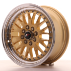 "Japan Racing JR10 Gold w/Machined Lip 15""(WTJR10157143074GD-4x100-30)"