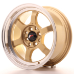 "Japan Racing JR12 Gold w/Machined Lip 15""(WTJR12157542673GD-4x100-26)"