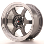 "Japan Racing JR12 Gun Metal w/Machined Lip 15""(WTJR12157142673GM-4x100-26)"