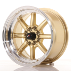 "Japan Racing JR19 Gold w/Machined Lip 15""(WTJR19158040073GDL-4x100-00)"