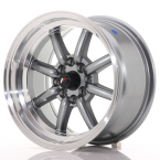 "Japan Racing JR19 Gun Metal w/Machined Lip 15""(WTJR19158040073GML-4x100-00)"