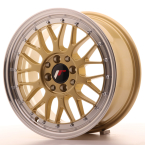 "Japan Racing JR23 Gold w/Machined Lip 16""(WTJR23168142067GD-4x100-20)"
