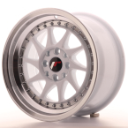 "Japan Racing JR26 White w/Machined Lip 15""(WTJR26158142567WL-4x100-25)"