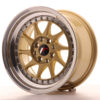 "Japan Racing JR26 Gold w/Machined Lip 15""(WTJR26158142567GDL-4x100-25)"