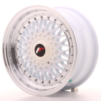 "Japan Racing JR9 White w/Machined Lip 15""(WTJR9157142074W-4x100-20)"