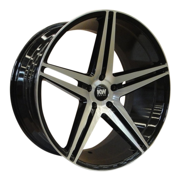 KW-SERIES S10 CONCAVE black/polished 22""