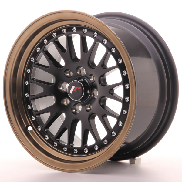 Japan Racing JR10 Matt Black w/Anodized Bronze Lip 16""