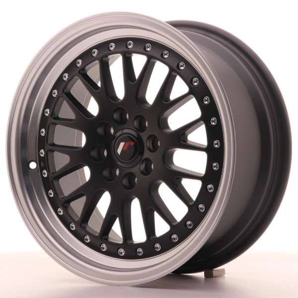 Japan Racing JR10 Matt Black w/Machined Lip 16""