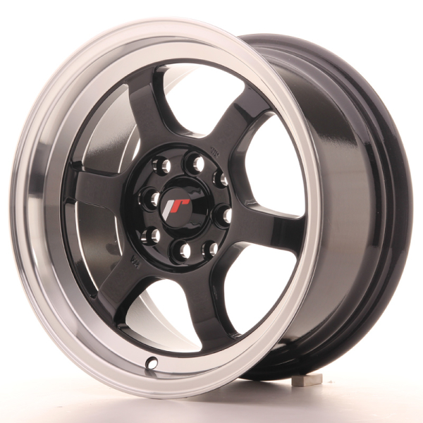 Japan Racing JR12 Gloss Black w/Machined Lip 15""
