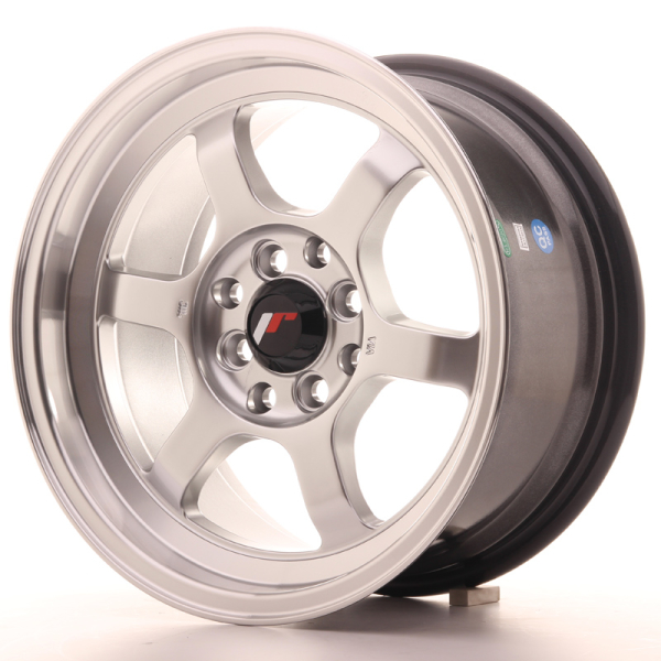 Japan Racing JR12 Hyper Silver w/Machined Lip 16""