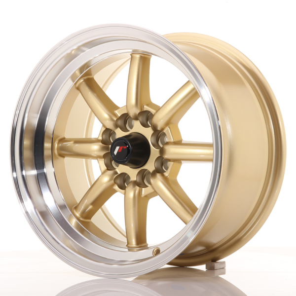 Japan Racing JR19 Gold w/Machined Lip 15""