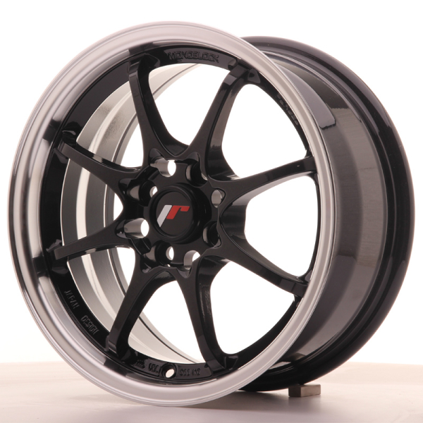 Japan Racing JR5 Gloss Black w/Machined Lip 15""