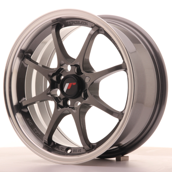 Japan Racing JR5 Gun Metal w/Machined Lip 15""