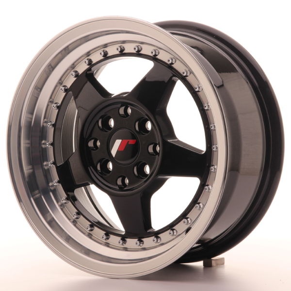 Japan Racing JR6 Gloss Black w/Machined 15""