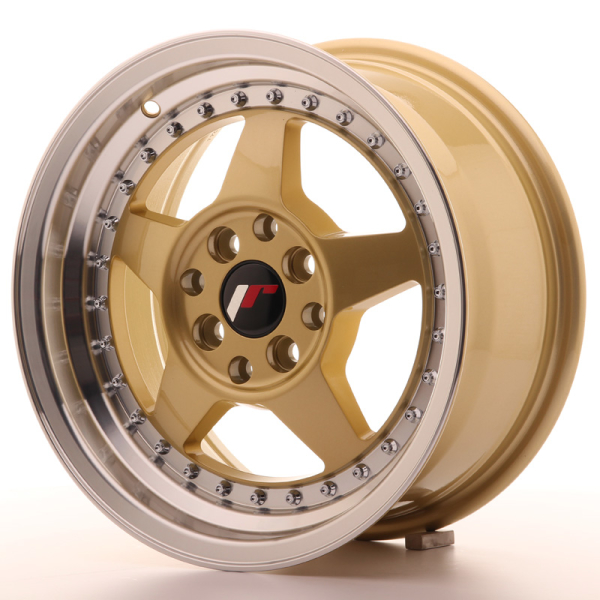 Japan Racing JR6 Gold w/Machined Lip 16""