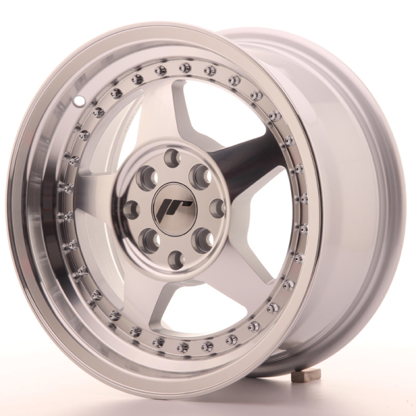 Japan Racing JR6 Silver Machined Face 15""