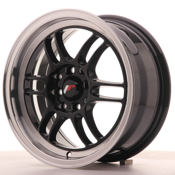 Japan Racing JR7 Gloss Black w/Machined Lip 15""