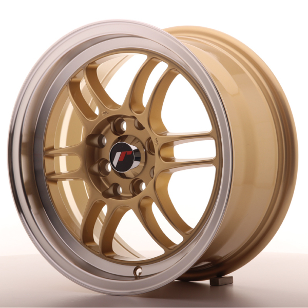 Japan Racing JR7 Gold w/Machined Lip 16""