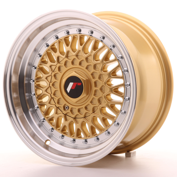 Japan Racing JR9 Gold w/Machined Lip 15""